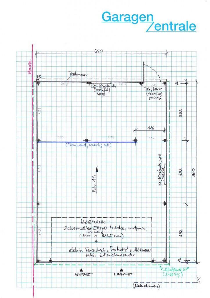 Skizze Garage V7090